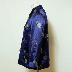 peony Jackets & Coats - Vintage Peony Brand Reversible Rayon Jacket Sz M